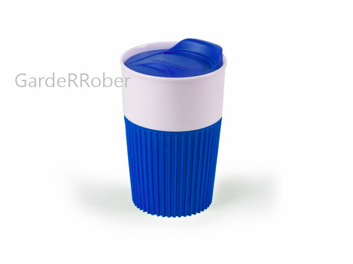 POKLON ŠOLJA sa silikonskim rukohvatom i plastičnim poklopcem