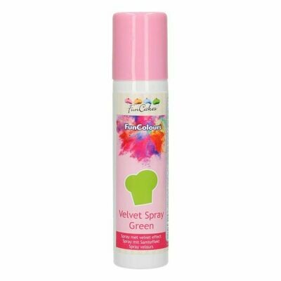 FunCakes FunColours Velvet Spray Green 100ml