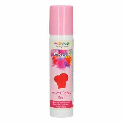 FunCakes FunColours Velvet Spray Red 100ml
