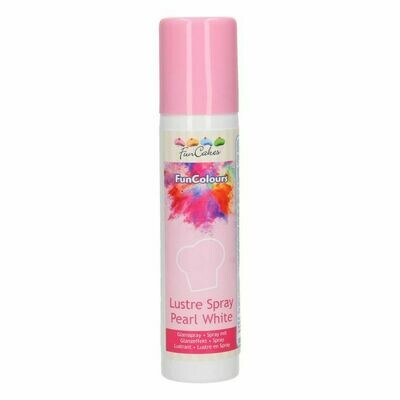 FunCakes FunColours Lustre Spray Pearl White 100ml