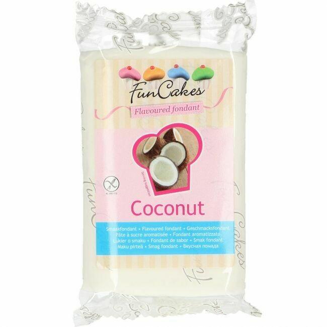 FunCakes Flavoured Fondant Bubblegum Coconut 250g