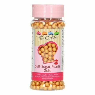 FunCakes weiche Perlen Gold 60g