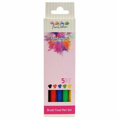 FunCakes FunColours Brush Food Pen Primary Set/5