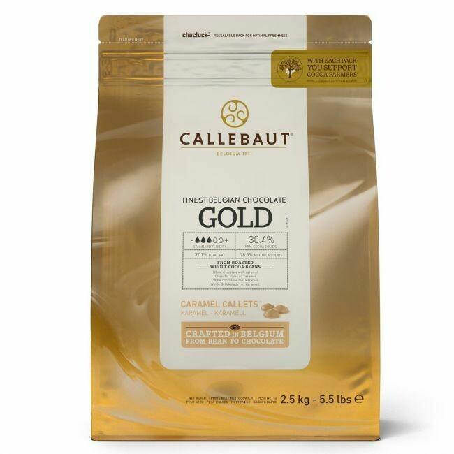 Callebaut Schokoladen-Callets Gold MHD 2,5kg