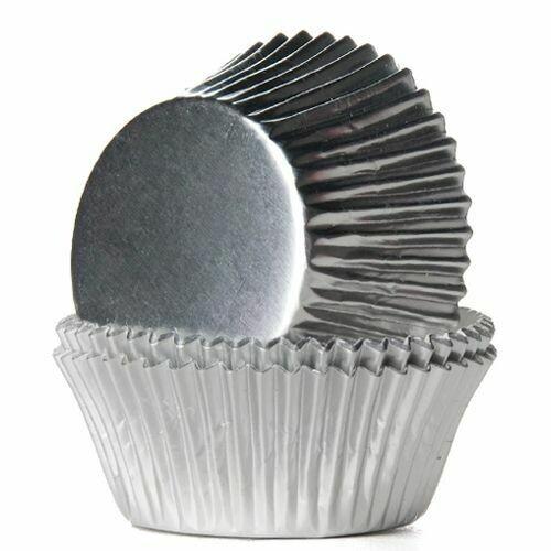 House of Marie Baking Cups Folie Silber 24/Pkg