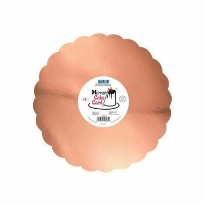 PME Mirror Cake Card Scallop Rose Gold -25cm- pk/3