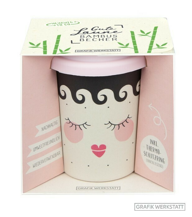"Bamboo-To-Go-Becher ""Gute Laune Sleeping Beauty"""