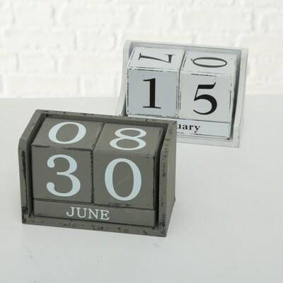 Blockkalender, 2 sort., H 9