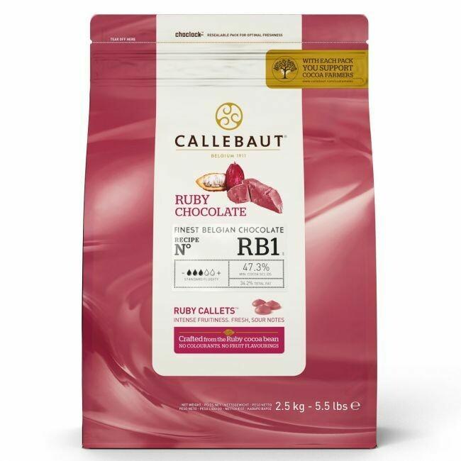 Callebaut Schokoladen-Callets Ruby MHD 2,5kg