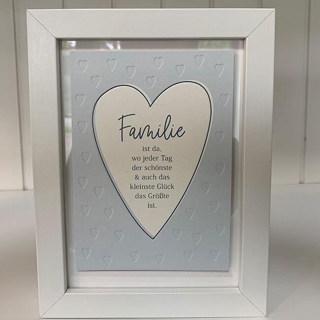 Einzelpostkarte: Familie