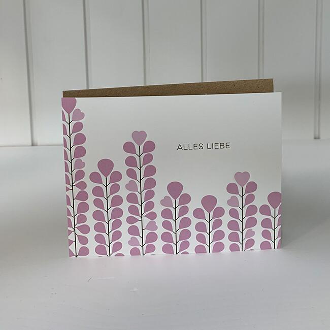 Doppelpostkarte: Alles Liebe