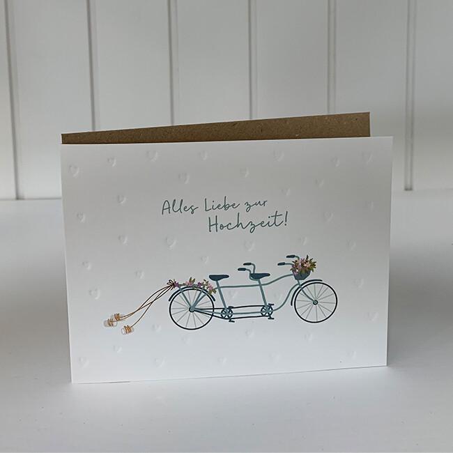 Doppelpostkarte: Alles Liebe zur Hochzeit!