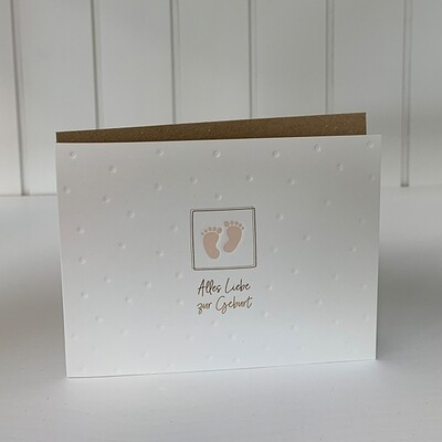 Doppelpostkarte: Alles Liebe zur Geburt