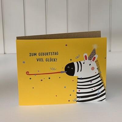 Doppelpostkarte: Zum Geburtstag viel Glück!