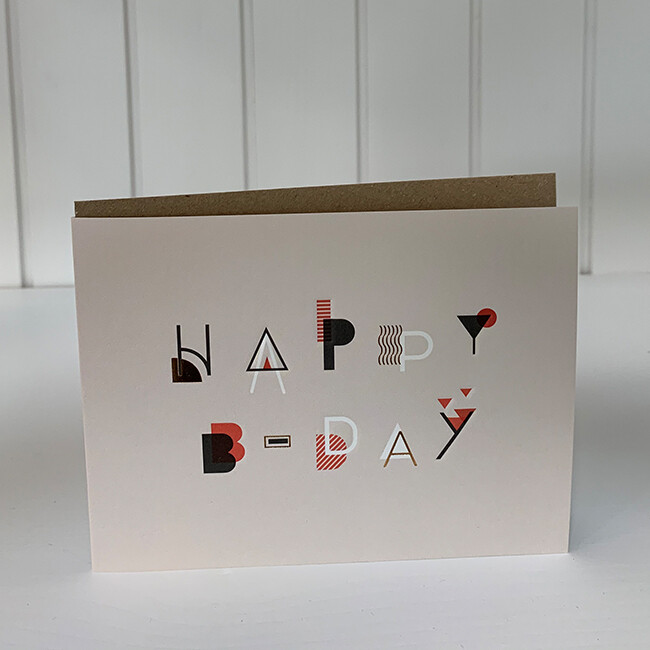 Doppelpostkarte: Happy Birthday