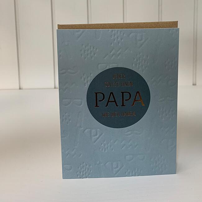 Doppelpostkarte: Jeder sollte eine Papa wie Dich haben
