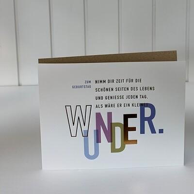 Doppelpostkarte: Zum Geburtstag (Wunder)