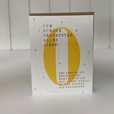 Doppelpostkarte: Zum runden Geburtstag alles Liebe!