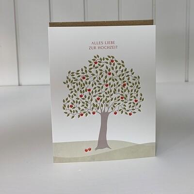 Doppelpostkarte: Alles liebe zur Hochzeit