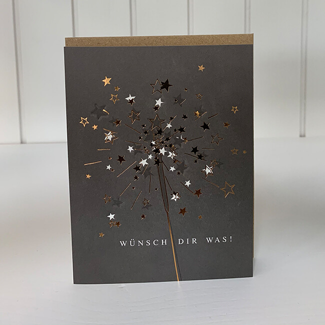 Doppelpostkarte: Wünsch Dir was!