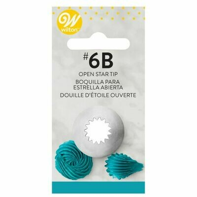 Wilton Decorating Tip #6B Open Star Carded