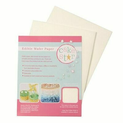 Cake Star Edible Wafer Paper -White- Pkg/12