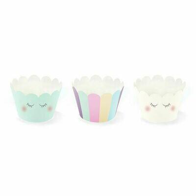 PartyDeco Cupcake Wrappers Einhorn Set 6-teilig