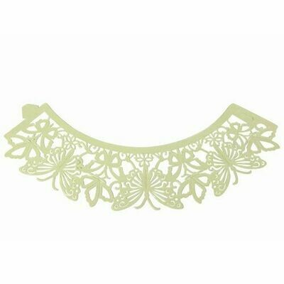 PME Cupcake Wrappers Butterfly Ivory pk/12