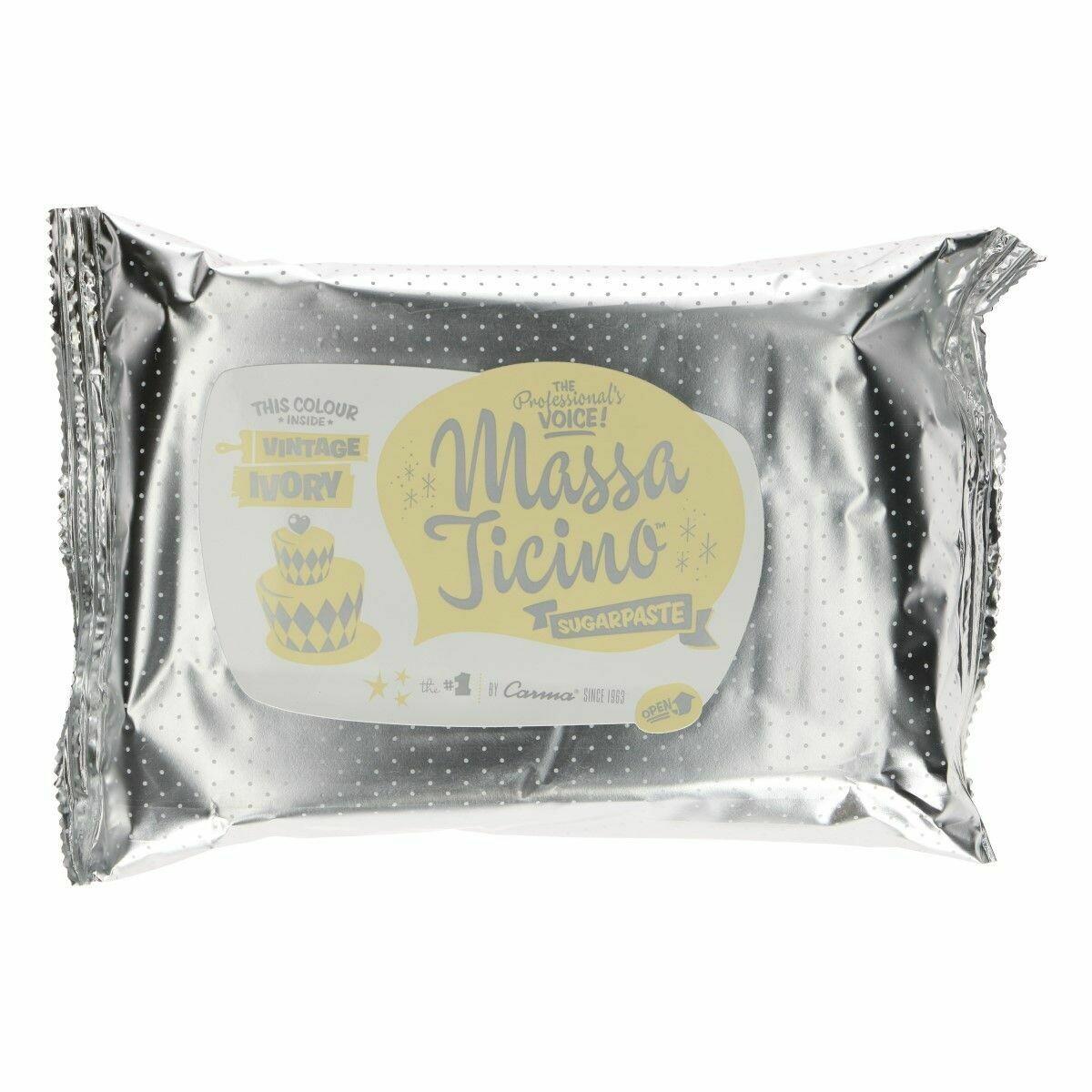 Massa Ticino Rollfondant - Elfenbein - Vintage Ivory 250g