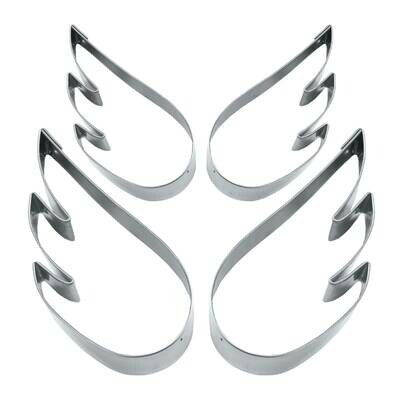 Städter Ausstecher Engelsflügel – Set, 4-teilig - 5,5 cm - 7 cm