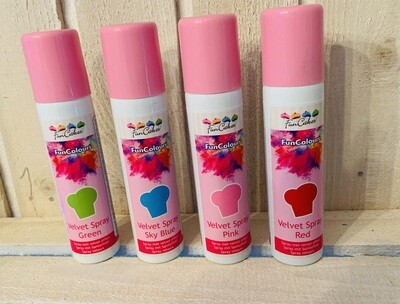 FunCakes FunColours Set à 100ml (1x Green, 1x Blue, 1x Pink, 1x Red)