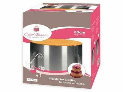 Cake-Masters Tortenring verstellbar 20cm hoch