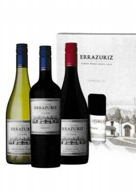 Errazuriz EsEate Reserva Series Sauvignon Blanc, Pinot Noir en Mertot in geschenkdoos