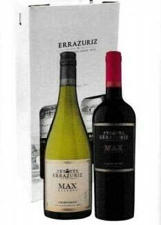 Errazuriz Max Chardonnay en Carmenère in geschenkdoos