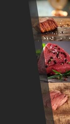 Gourmet schotel pakket +/-800 gram 2 pers. Samenstelling: Kogelbiefstuk salsa, Kalfsoester, Varkenshaas cajun