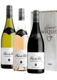 Laurent Miquel Père et Fils Chardonnay, Cinsautt-Syrah Rosé en Cabernet Sauvignon in houten kist