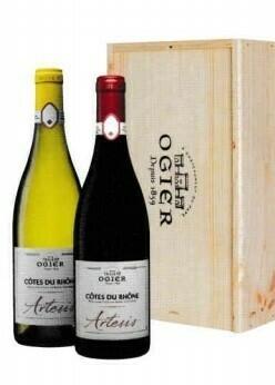 Ogier Artesis Blanc en Rouge in houten kist