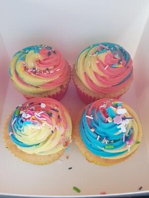 Vanilla Cupcakes  ( 4-pack)