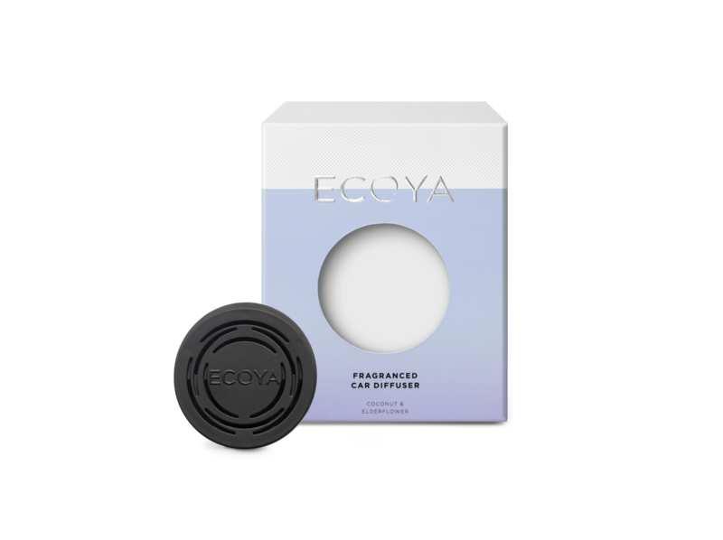 Ecoya Car Diffuser-Coconut & Elderflower