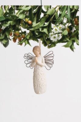 a tree, a prayer Ornament