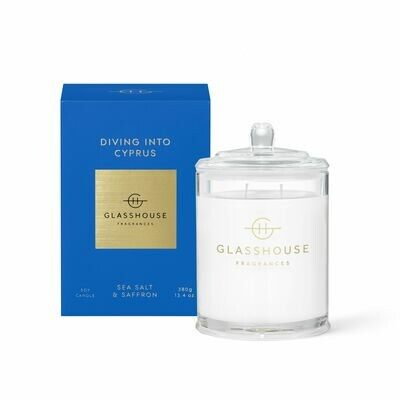 Glasshouse Candle - Diving Into Cyprus 380gm