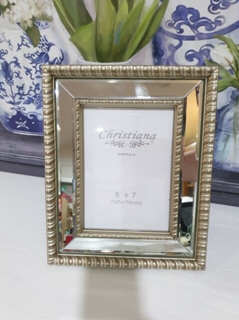 Frame-Champagne Mirrored 5x7