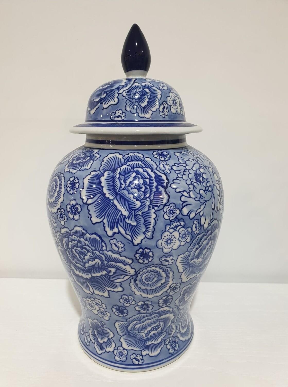 Temple Jar-Blue/White