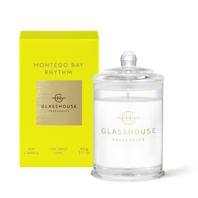 Glasshouse Candle-Montego Bay Rhythm 60gm