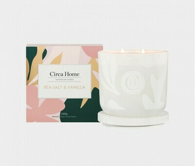 Circa Home Candle-Sea Salt & Vanilla 260g