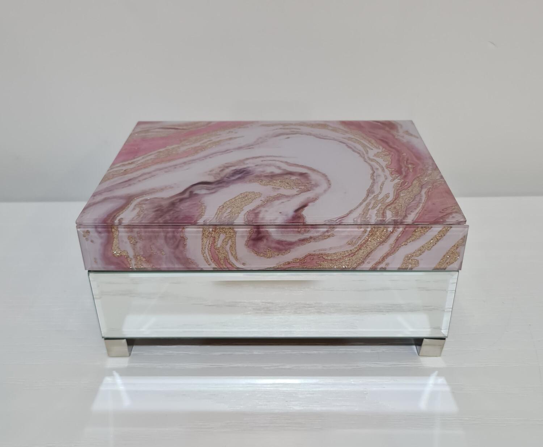 Jewellery Box-Pink Marble 17x22cm