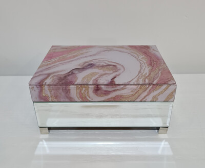 Jewellery Box-Pink Marble 17x22cm