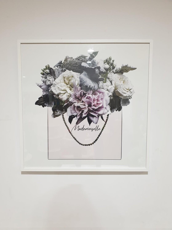 Framed Print-Mademoiselle 100x100cm