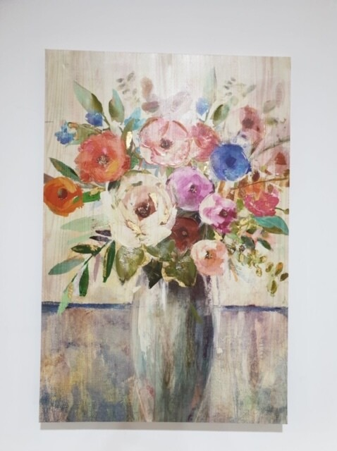Canvas-Flowers in Vase 60x90cm