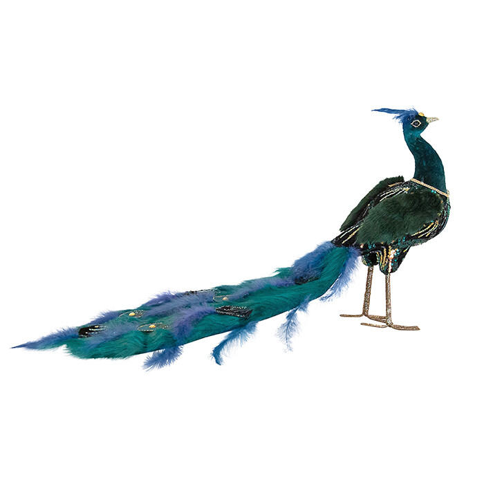 Table Peacock Green/Blue/Gold